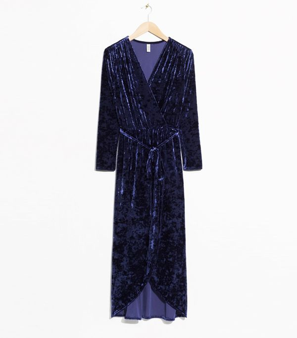 Best Velvet Clothing: & Other Stories Crushed Velvet Wrap Dress
