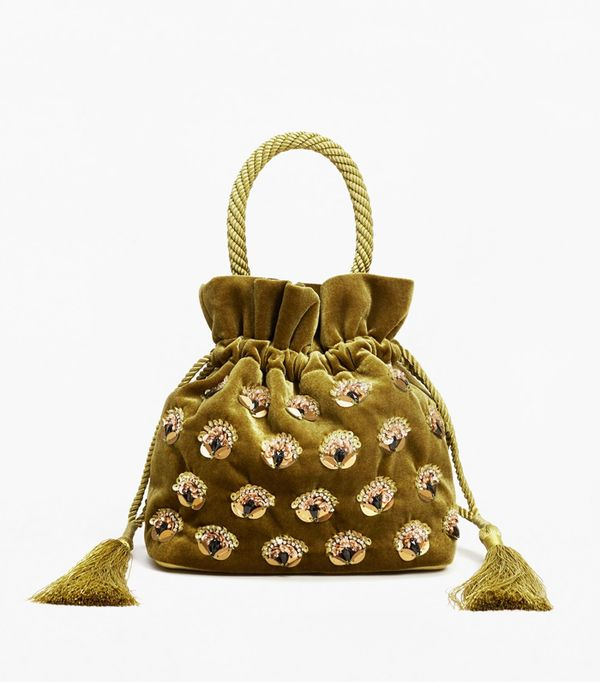 Best Velvet Clothing: Mango Velvet Bead Bag