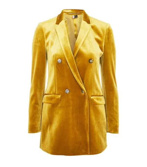 Best Velvet Clothing: Topshop Bonded Velvet Blazer