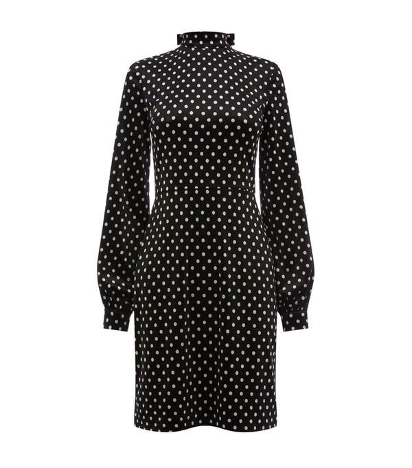 Best Velvet Clothing: Warehouse Polka Dot Velvet Dress