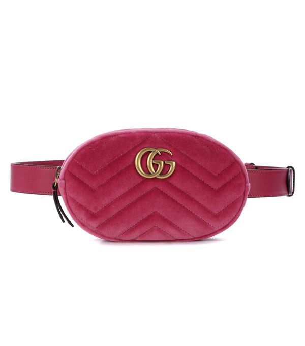 Best Velvet Clothing: Gucci Marmont Velvet Belt Bag