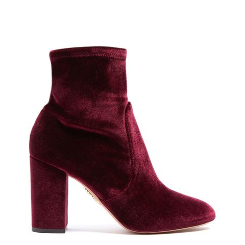 So Me Velvet Ankle Boots