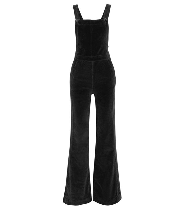 Best Velvet Clothing: Frame Le Velveteen Cotton-Blend Velvet Jumpsuit