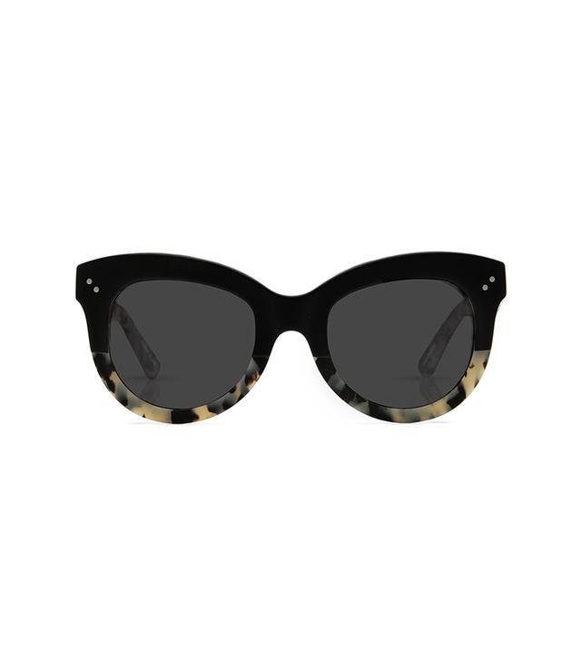 Krewe Julia Sunglasses in Matte Black to Au Lait