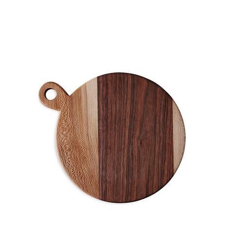Round Walnut and Sycamore Board
