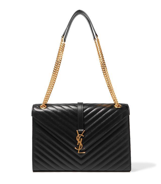 Cassandre Large Quilted Textured-leather Shoulder Bag