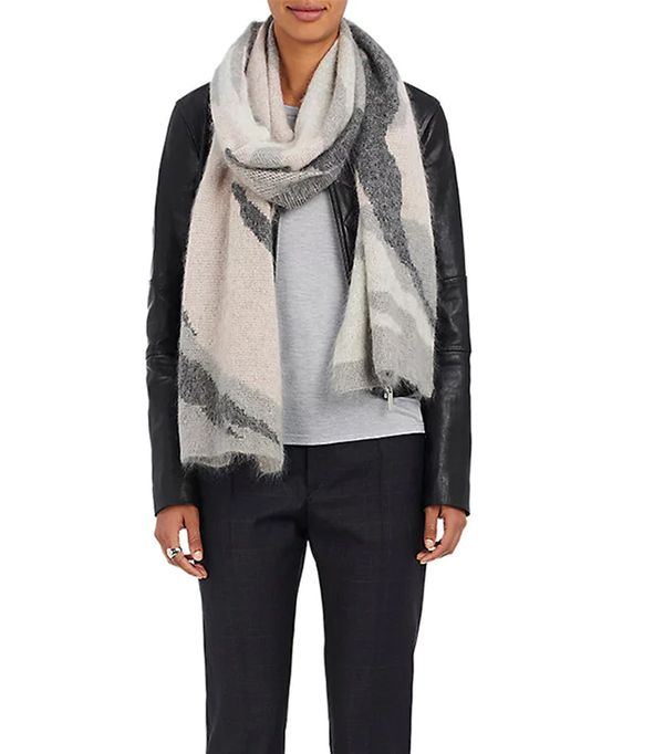 Women's Sinclair Camouflage Oversized Merino Wool-Blend Scarf