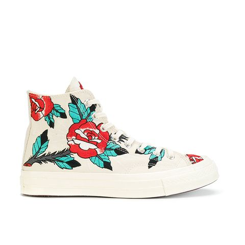 CTAS 70' Embroidered Rose Sneakers