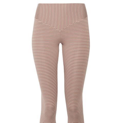 Mateo Cropped Striped Stretch-Jersey Leggings