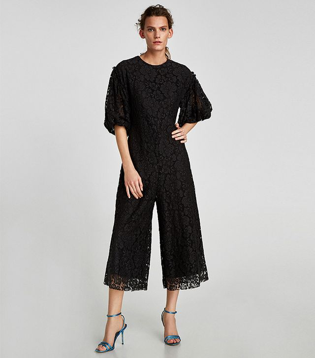 Zara Cropped Lace Jumpsuit