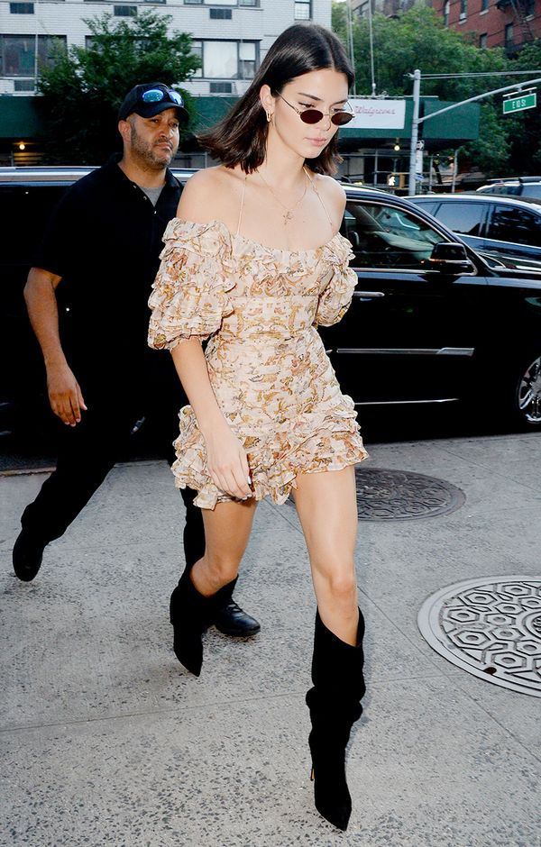 Take a note from Kendall, and swap your ankle boots for an updated pair.