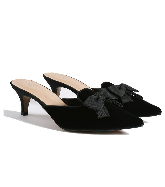 M&S Bow Kitten Heel Mules