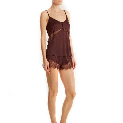 Estella Lace-Insert Jersey Pyjama Set
