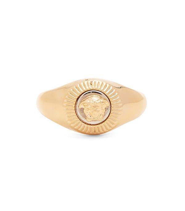 Medusa signet ring
