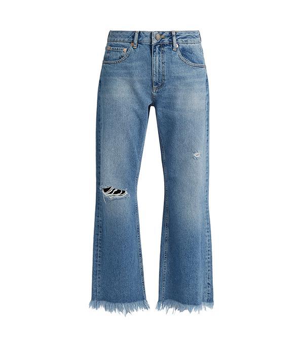 Max asymmetric hem wide-leg jeans