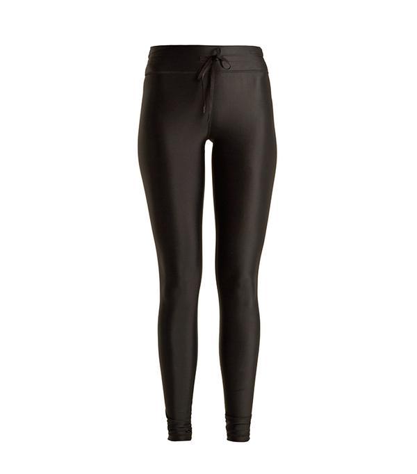 Drawstring-waist performance leggings