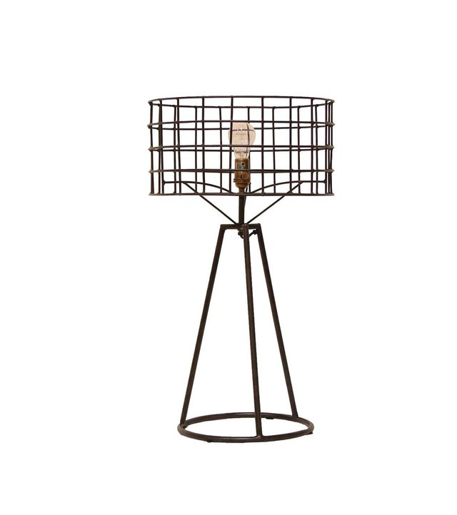Kathy Kuo Home Sanctuary Industrial Loft Steel Table Lamp
