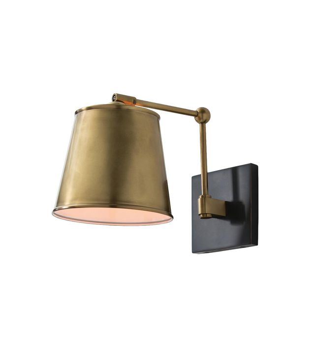 Kathy Kuo Home Edgar Bronze Antique Brass Classic Sconce