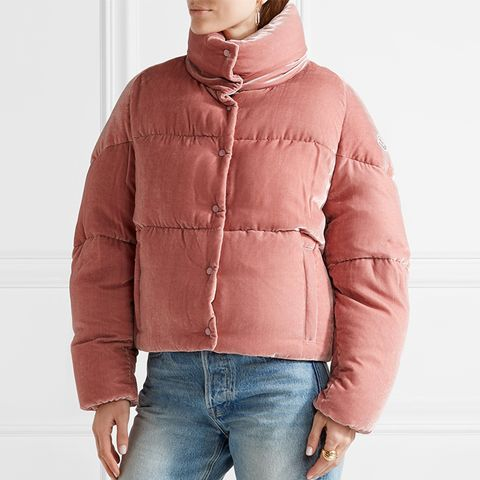 Cercis Quilted Velvet Down Jacket