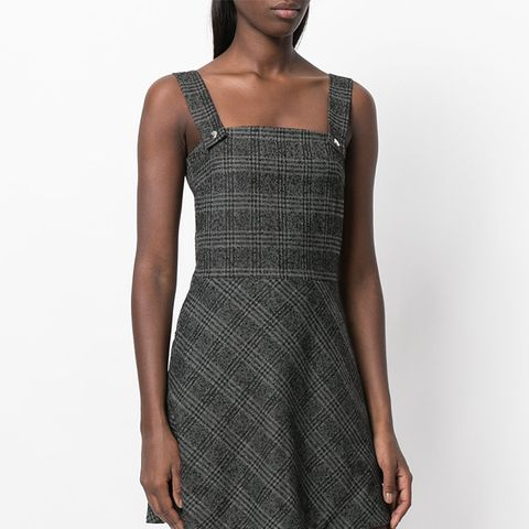 Checked Hooded Dress