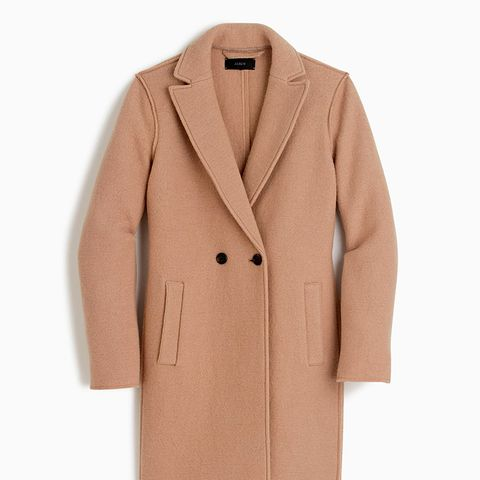 Daphne Topcoat in Boiled Wool in Hthr Camel