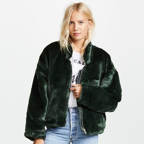 Furry Bomber Jacket