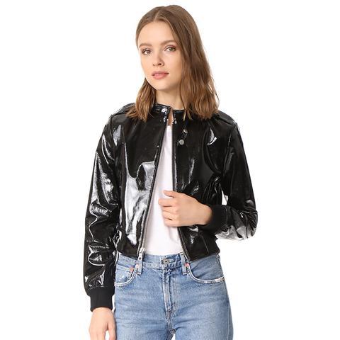 Nixon Patent Leather Jacket