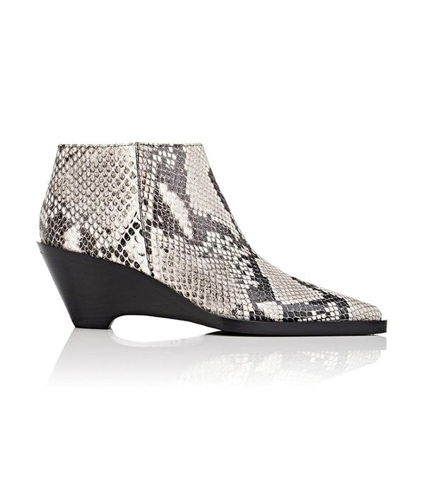 Women's Cammie Snakeskin-Stamped Leather Ankle Boots