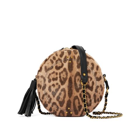 Remi Leopard-Print Calf Hair and Leather Shoulder Bag