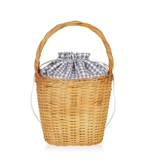 Lily Gingham Basket Tote