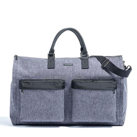 Melange Fabric Garment Weekender Bag