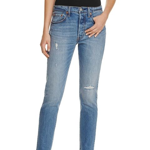 501 Distressed Skinny Jeans