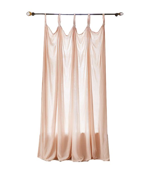 Knotted Window Curtain - Charcoal 84 at Urban Outfitters