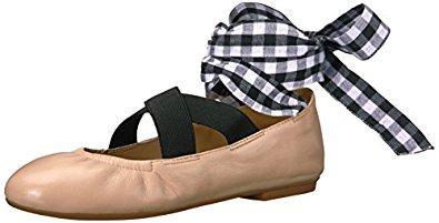 Singh Elastic Strap Lace-Up Ankle Ballet Flat