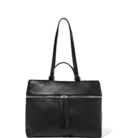 Satchel Textured-Leather Shoulder Bag