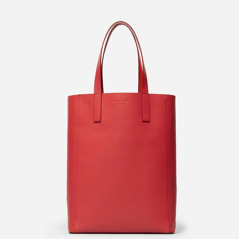 Leather Magazine Tote Bag