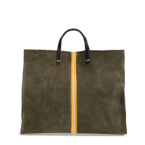 Simple Stripe Suede Tote