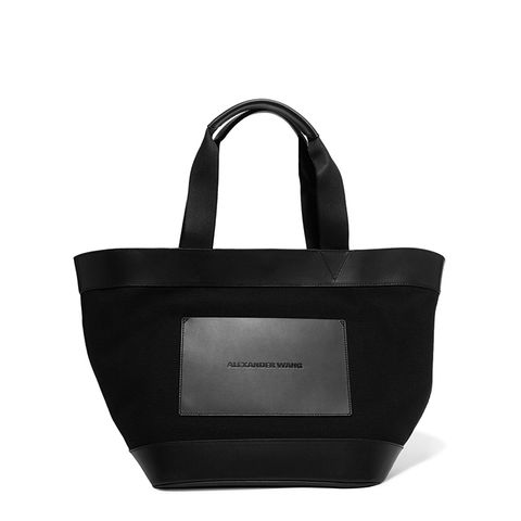 Leather and Canvas Tote