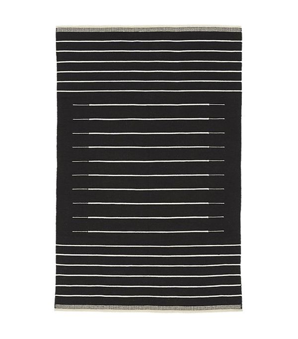 Black with White Stripe Runner 2.5'x8'