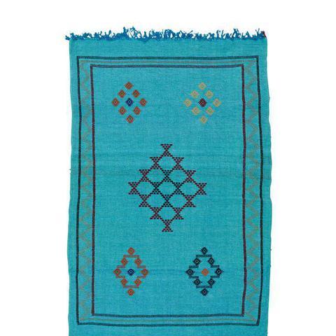 Blue Moroccan Cactus Silk
