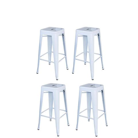 Loft Style 30 in. Stackable Metal Bar Stool