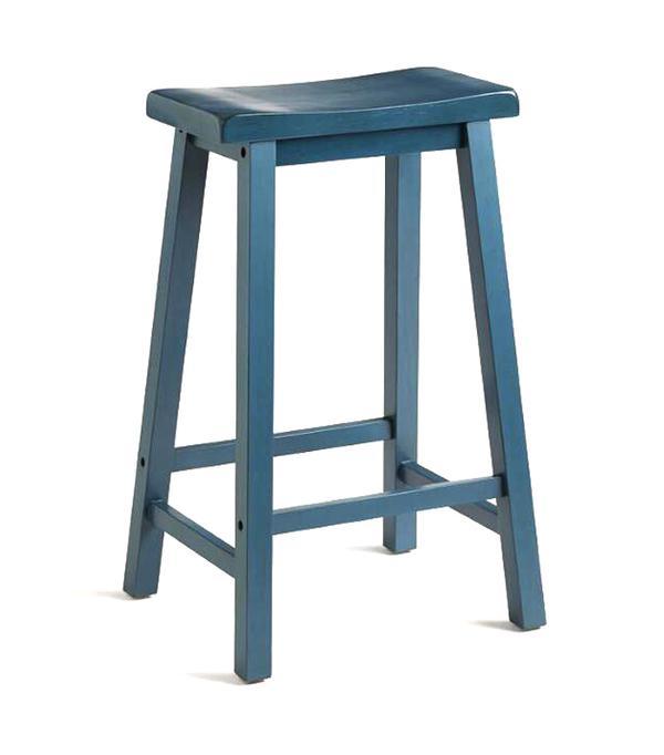 Navy Schoolhouse Barstool: Blue by World Market