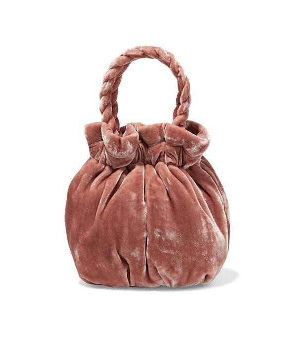 Grace Crushed-velvet Tote