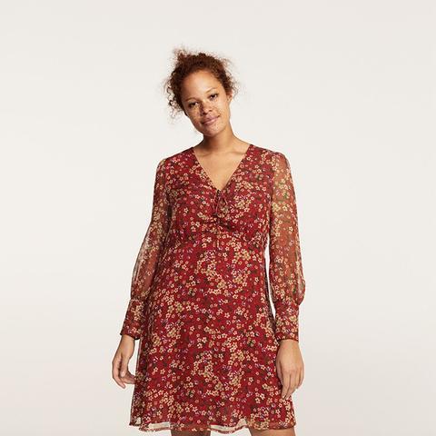 Floral-Print Flowy Dress