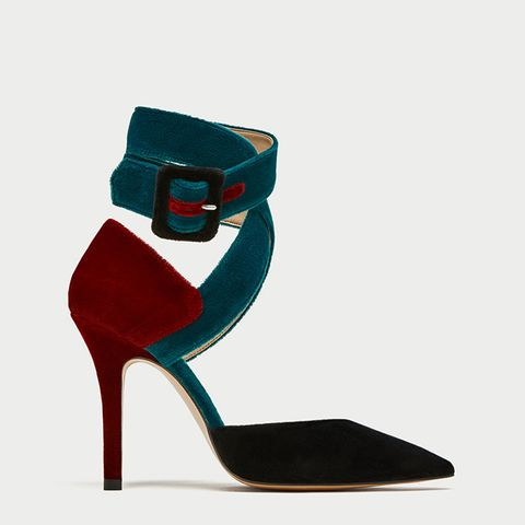 Tied High Heel D'Orsay Shoes