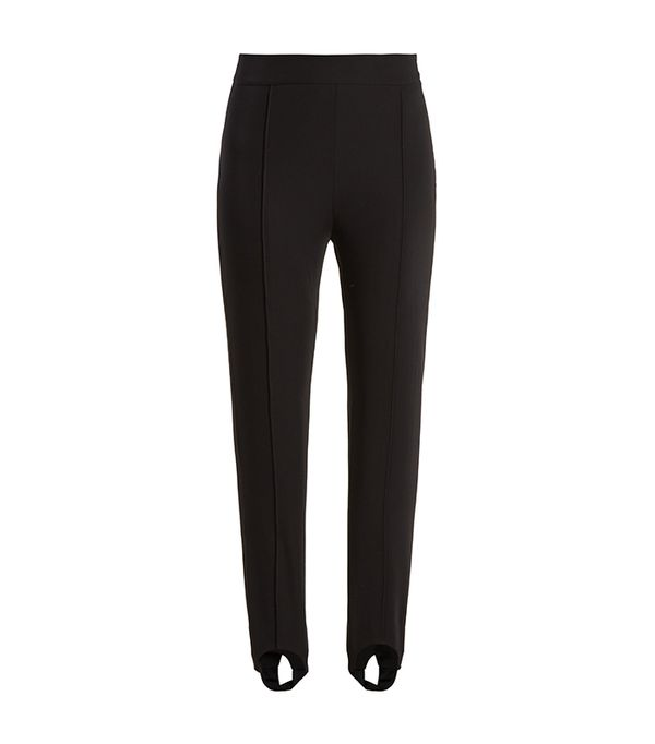 Tecia stirrup-hem twill trousers