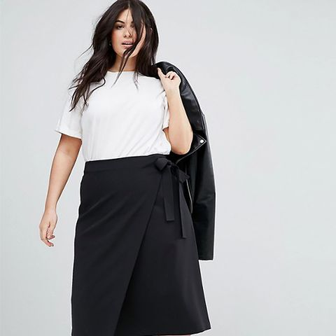 Tailored Midi Simple Wrap