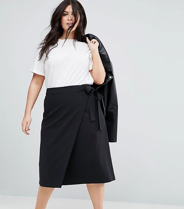 ASOS CURVE Tailored Midi Simple Wrap