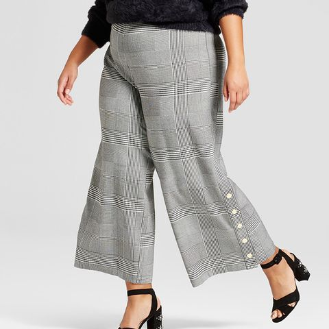 Skinny Leg Side Snap Cropped Trousers
