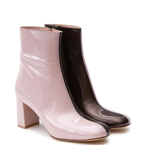 Agnes Boots in Champagne Pink/Tar Patent